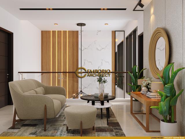 Desain Ruang Keluarga Rumah Modern 3 Lantai Bapak Budi di Jakarta Utara