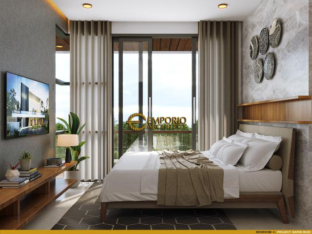 Desain Kamar Tidur 4 Rumah Modern 3 Lantai Bapak Budi di Jakarta Utara