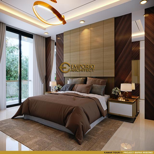 Desain Kamar Tidur 1 Rumah Modern 4 Lantai Bapak Wibowo di Semarang, Jawa Tengah