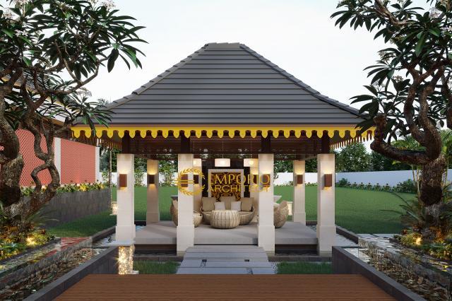 Desain Area Kolam Rumah Tradisional 1 Lantai Ibu Mila di Jambi