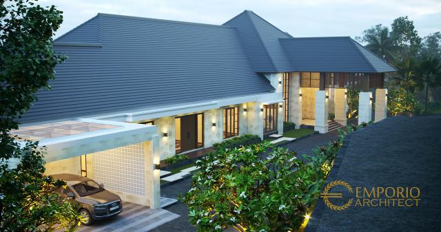 Desain Exterior 3 Rumah Villa Bali 1 Lantai Mr. D di Bukittinggi, Sumatera Barat