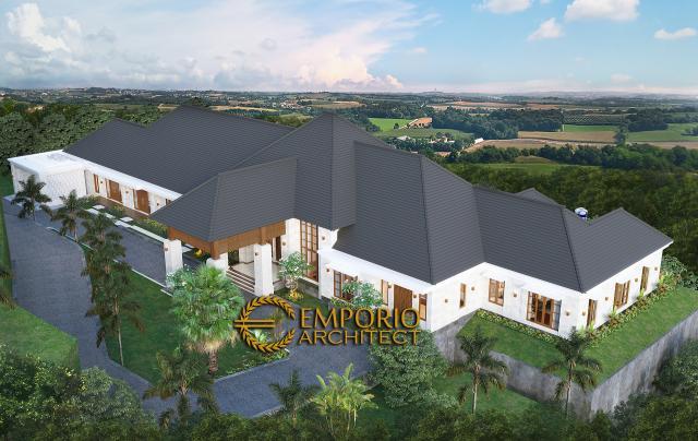 Desain Exterior 7 Rumah Villa Bali 1 Lantai Mr. D di Bukittinggi, Sumatera Barat