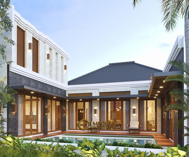 Desain Tampak Belakang Rumah Villa Bali 2 Lantai Ibu Srie di Bekasi, Jawa Barat