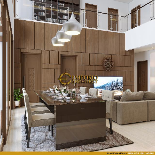 Desain Ruang Makan Rumah Villa Bali 2 Lantai Ibu Lastri di Cikarang, Bekasi, Jawa Barat