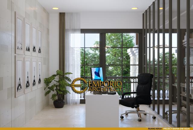 Desain Ruang Kerja Rumah Villa Bali 2 Lantai Bapak Dwi Agus di Semarang, Jawa Tengah