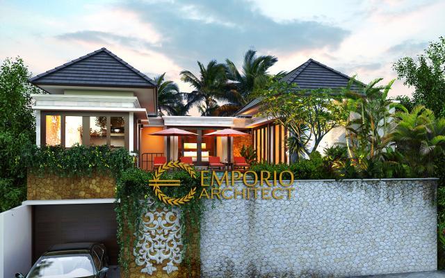 Desain Exterior Villa Style Villa Bali 2 Lantai Bapak Wahyu di Malang