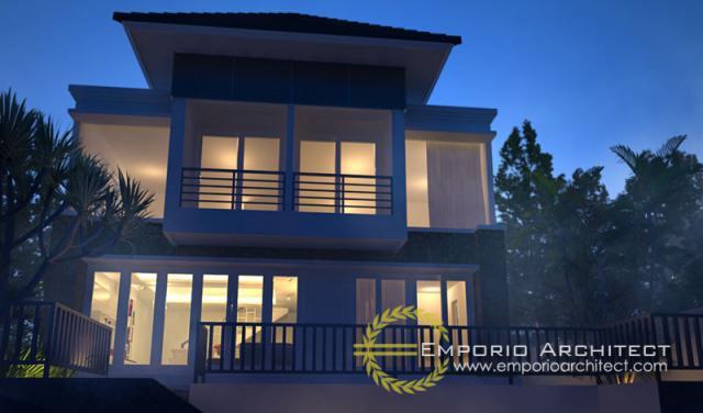 Desain Exterior 5 Villa Style Villa Bali 2 Lantai Ibu Juliati di Bali