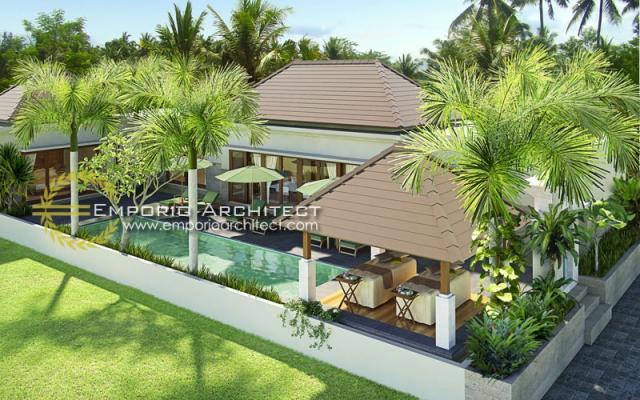 Desain Exterior 1 Villa Style Villa Bali 1 Lantai Ibu Maryam di Bali