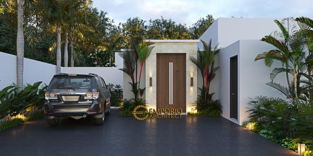 Desain Villa Modern 1 Lantai Ibu Natalia di Bali - Tampak Depan
