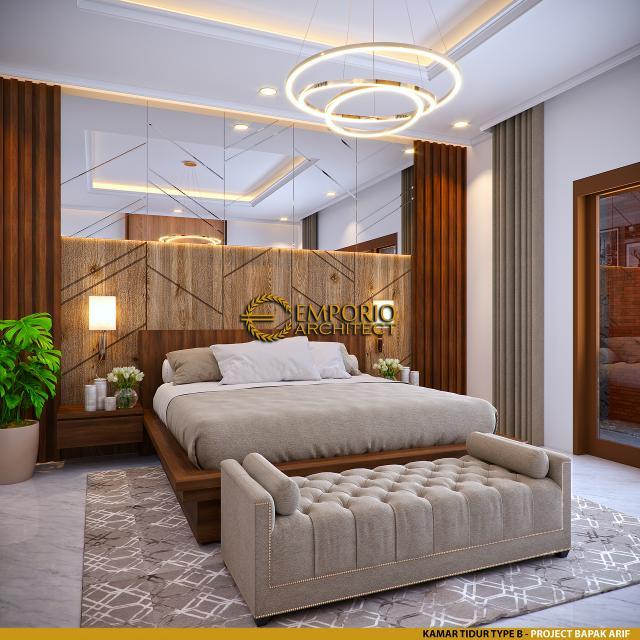 Desain Kamar Tidur Type B Villa Style Villa Bali 2 Lantai Bapak Arif di Yogyakarta