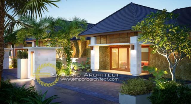 Desain Tampak Depan Volcom Kenanga Villas Style Villa Bali 1 Lantai di Bali