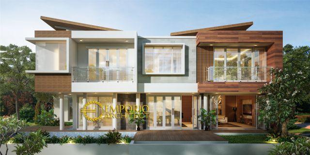 Desain Rumah Modern 2 Lantai Ibu Irene di Badung, Bali