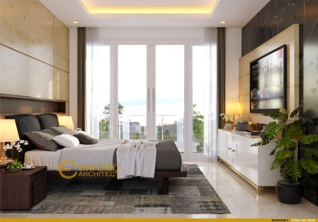 Desain Kamar Tidur Rumah Ibu Irene di Badung, Bali