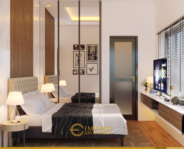 Desain Kamar Tidur 1 Rumah Modern 3 Lantai Type A Bapak Laode di Balikpapan, Kalimantan Timur