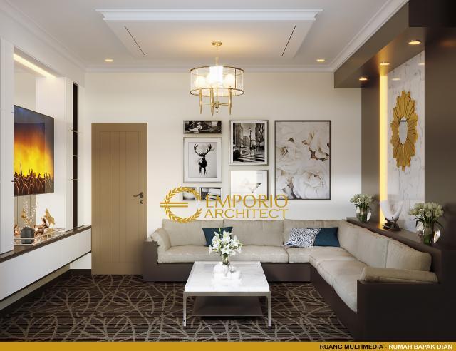 Desain Ruang Multimedia Rumah Classic Bandoeng Tempoe Doeloe 2 Lantai Bapak Dian di Bandung, Jawa Barat