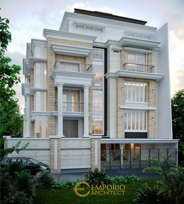 Desain Exterior 2 Rumah Hook Classic 3.5 Lantai Bapak Sulaiman di Bandung, Jawa Barat
