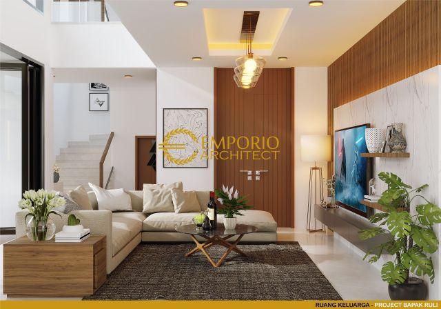 Desain Ruang Keluarga Rumah Bapak Ruli di Bandung, Jawa Barat