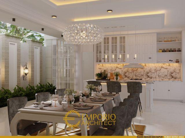 Desain Ruang Makan dan Dapur Rumah Bapak Anas di Banten