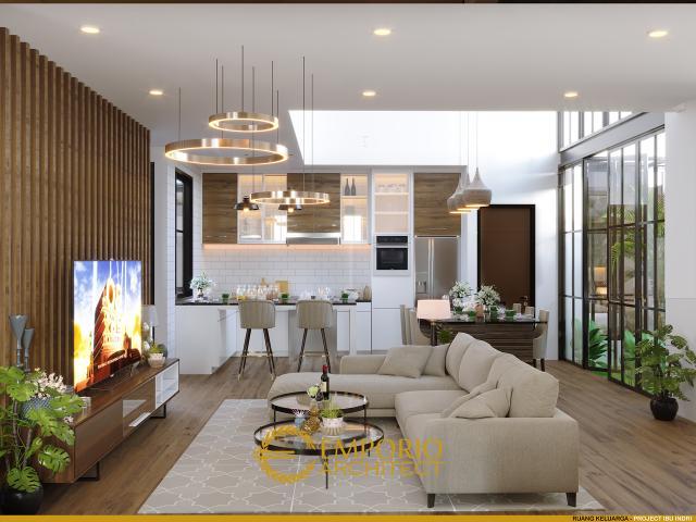 Desain Ruang Keluarga Rumah Modern Industrial 3 Lantai Ibu Indri di Bekasi, Jawa Barat