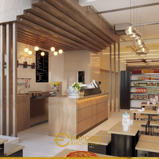 Desain Cafe Toko Daging dan Kedai Steak Modern 2 Lantai Suri Nusantara di Bekasi, Jawa Barat