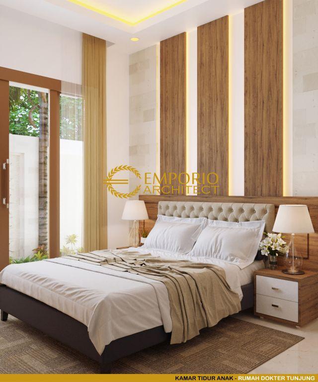 Desain Kamar Tidur Rumah Ibu dr. Tunjung di Bengkulu