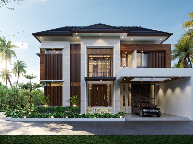 Desain Rumah Modern 2.5 Lantai Bapak Khoiri di Cibubur, Bekasi