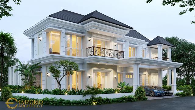 Desain Rumah Classic 2 Lantai Bapak Suherman di Cibubur, Jakarta Timur