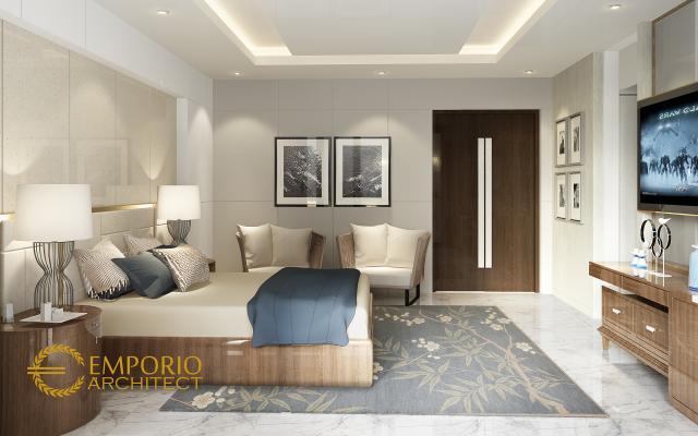 Desain Kamar Tidur Rumah Modern 4 Lantai Bapak Bima di Cilangkap, Jakarta Timur