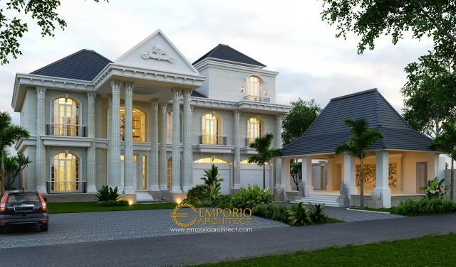 Desain Rumah Classic 3 Lantai Ibu Ayu di  Denpasar, Bali