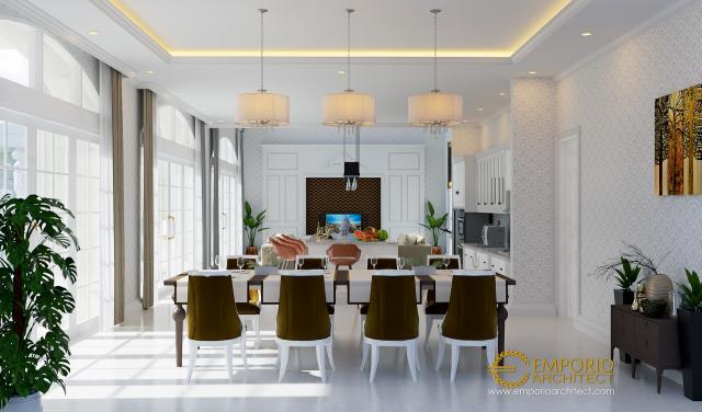 Desain Ruang Makan Rumah Classic 3 Lantai Ibu Ayu di Denpasar, Bali