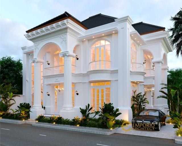 Desain Rumah Classic 2 Lantai Ibu Dokter Lia di Denpasar, Bali