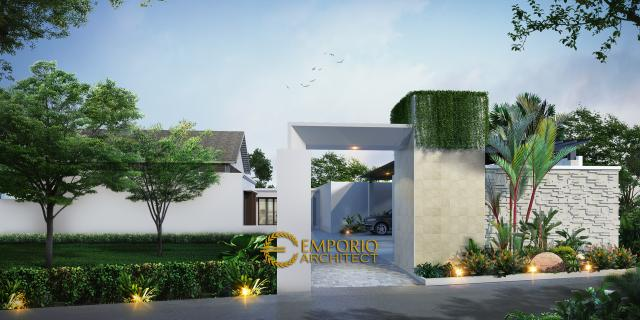 Desain Exterior Gudang Modern 1 Lantai Bapak Kennedy di Bekasi