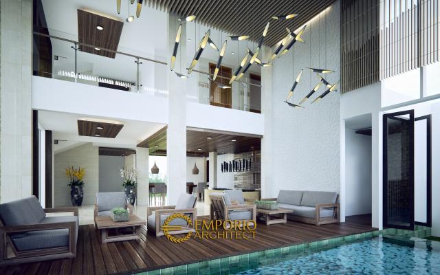 Desain Interior Hotel Modern 4 Lantai Ar Rayyan di Kerobokan, Bali