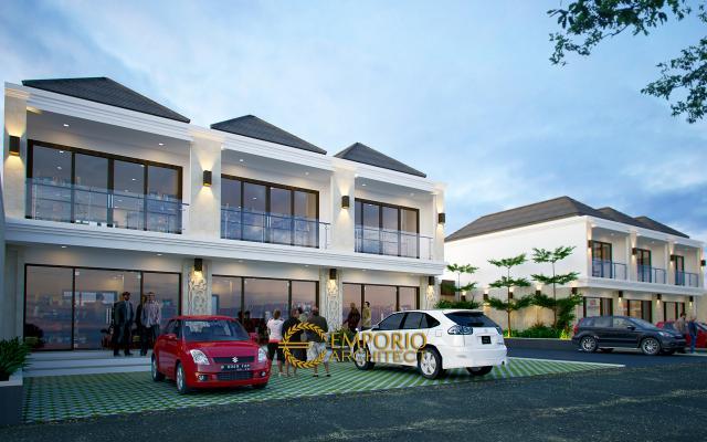 Desain Exterior 1 Ruko Kamuning Residence Style Villa Bali 2 Lantai di Kuningan, Jawa Barat
