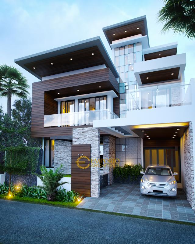Mr. Andrika Modern House 2 Floors Design - Tangerang