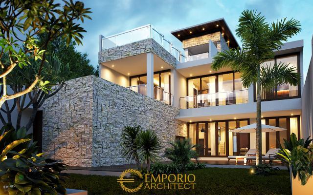 Desain Rumah Modern 3 Lantai Bapak Adrian di Jakarta