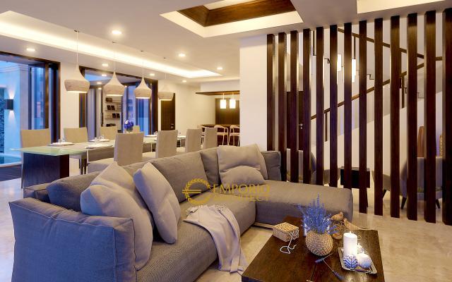 Desain Ruang Keluarga Rumah Bapak Ahmad di Bekasi
