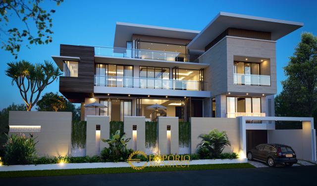 Desain Rumah Modern 3 Lantai Bapak Alex di Jakarta