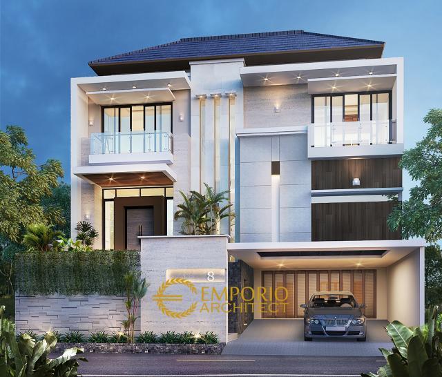 Desain Rumah Modern 2 Lantai Bapak Andre di Kelapa Gading, Jakarta