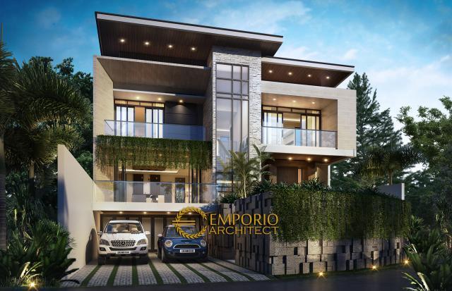 Mr. Andry Modern House 3 Floors Design - Bandung
