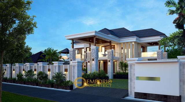 Desain Rumah Villa Bali 2 Lantai Bapak Husni di Belitung