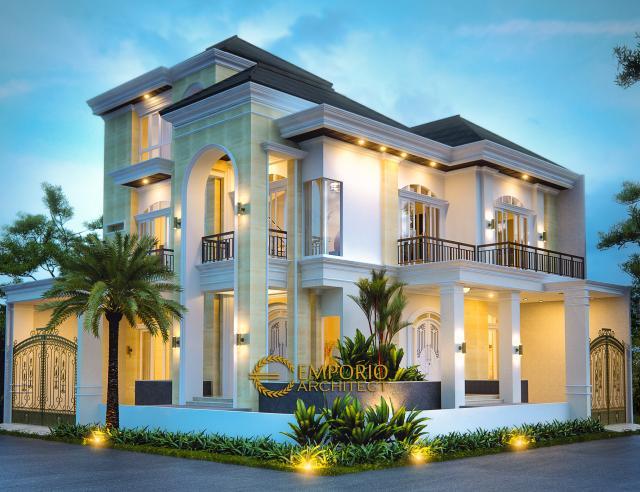 Desain Exterior 1 Rumah Hook Mediteran 2 Lantai Bapak Julius di Jakarta