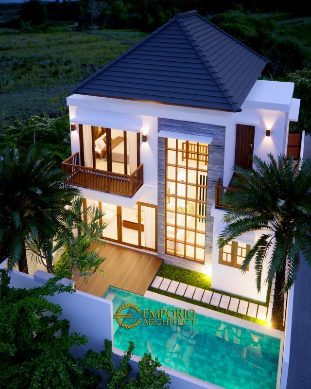 Desain Tampak Belakang Rumah Modern 2 Lantai Bapak Mayor II di Jimbaran, Bali