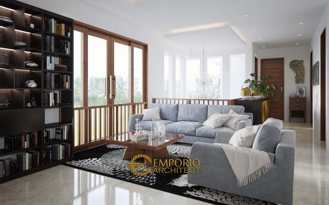 Desain Ruang Keluarga Rumah Villa Bali 2 Lantai Bapak Wartawan di Denpasar, Bali