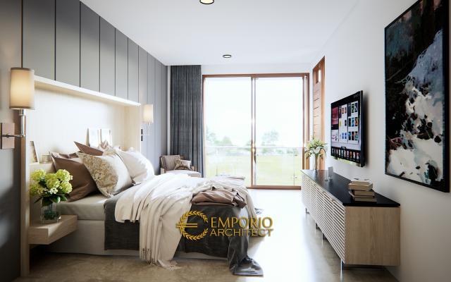 Desain Kamar Tidur Rumah Modern 3 Lantai Ibu Chris & Bapak Andrew di Jakarta