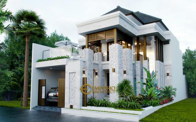 Desain Exterior Rumah Villa Bali 2 Lantai Ibu Khrisna di Nusa Dua, Bali