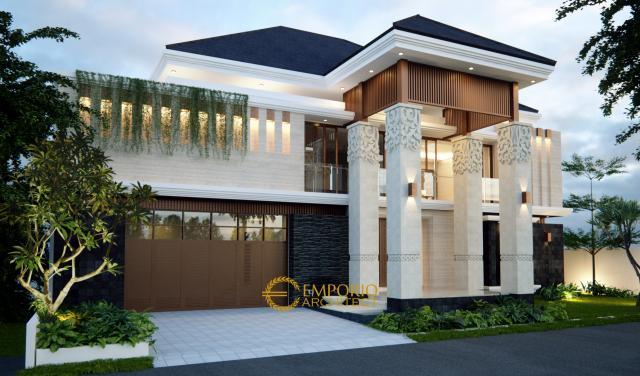 Desain Rumah Villa Bali 2 Lantai Ibu Tirza di Jakarta