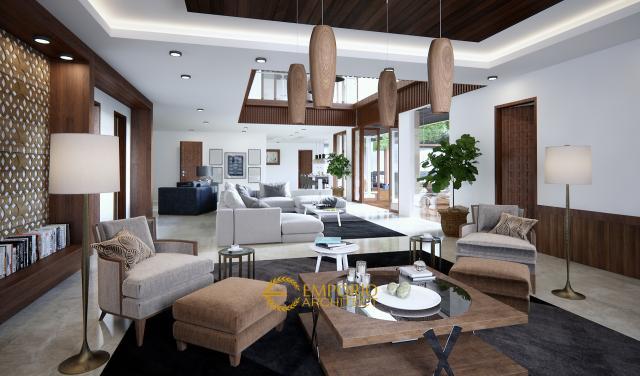 Desain Ruang Keluarga Rumah Ibu Tirza di Jakarta