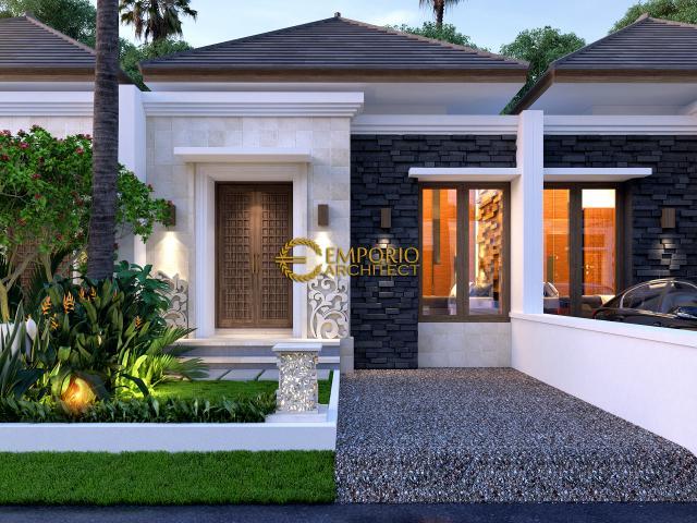 Desain Exterior 2 Ubud Hills Style Villa Bali 1 Lantai di Bekasi