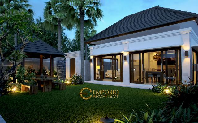 Desain Exterior Villa Style Villa Bali 1 Lantai Bapak Hendra di Canggu, Badung, Bali